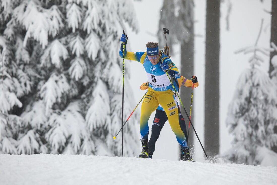 Martin Ponsiluoma går ut med startnummer 32 på dagens sprint i Oberhof. FOTO: Christian Manzoni/Bildbyrån.