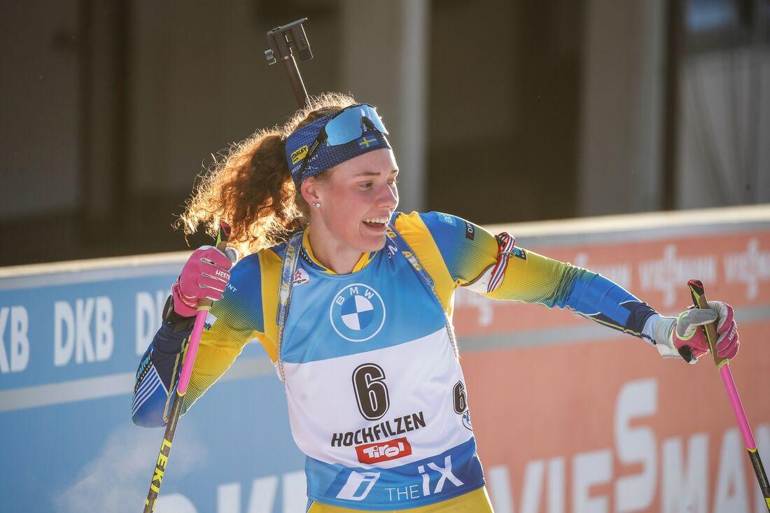 Hanna Öberg går ut med startnummer 29 på sprinten i Oberhof i eftermiddag. FOTO: Jasmin Walter, Gepa Pictures/Bildbyrån.
