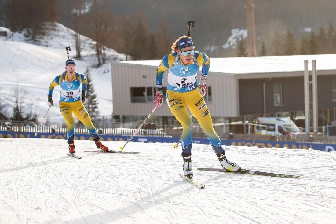 Mona Brorsson blev 18:e och Hanna Öberg sjua på sprinten i Oberhof. FOTO: Jasmin Walter, Gepa Pictures/Bildbyrån.