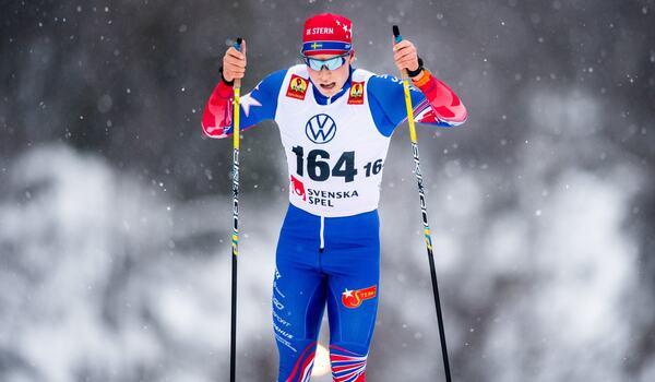 IK Sterns Alfred Buskqvist vann Offerdalspropagandan på söndagen. FOTO: Johanna Lundberg/Bildbyrån.