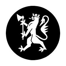 Statsforvalterens logo: Hvit riksløve på sort bakgrunn