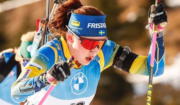Linn Persson blev 15:e på distansloppet I Antholz. FOTO: Jasmin Walter, Gepa Pictures/Bildbyrån.