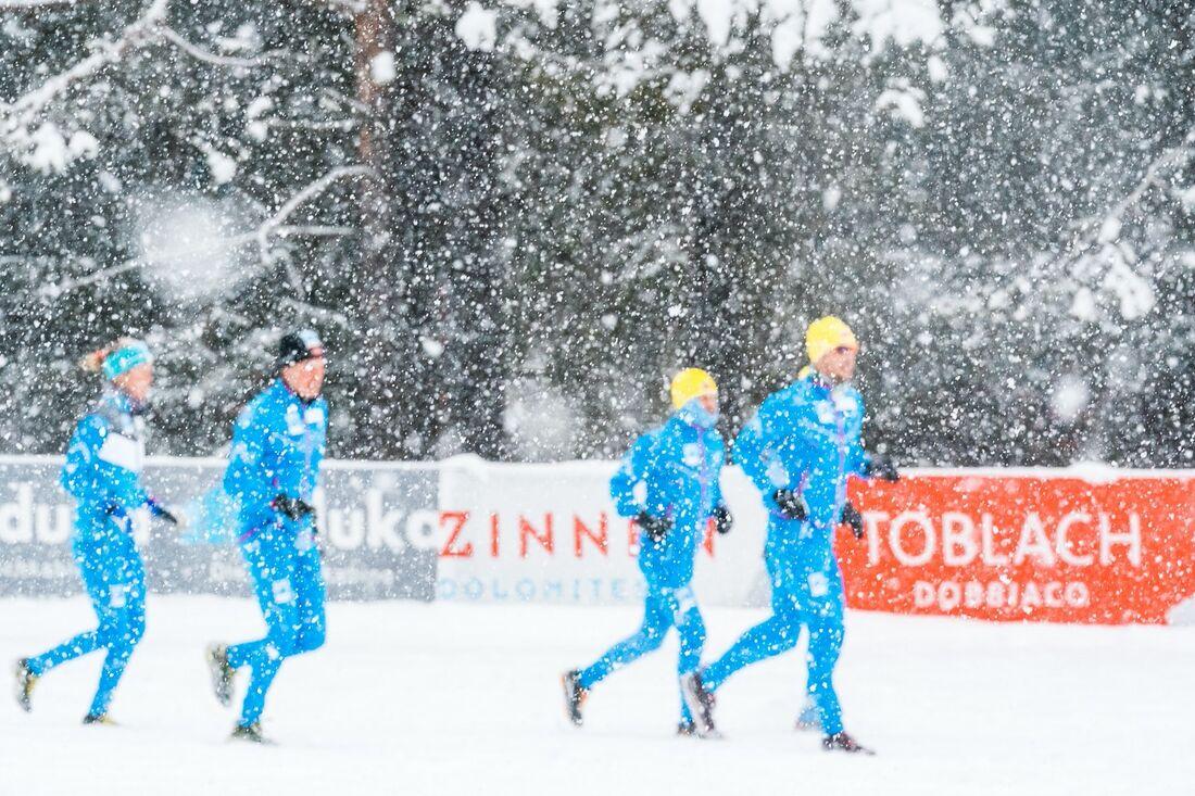 Toblach-Cortina flyttas till söndag på grund av kraftigt snöfall i tävlingsområdet. FOTO: Björn Reichert/Nordic Focus.