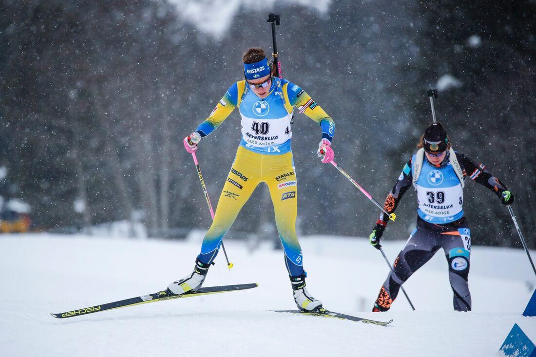 Hanna Öberg tog andraplatsen på masstarten i Antholz på lördagen. FOTO: Jasmin Walter, Gepa Pictures/Bildbyrån.
