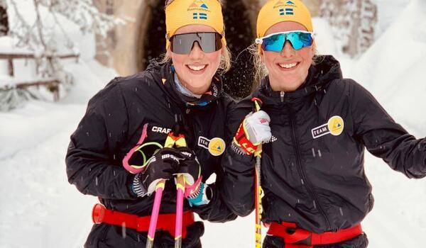 Team Ramuddens Jenny Larsson och Ida Dahl är laddade för nya framgångar när Visma Ski Classics fortsätter på söndagen. FOTO: Team Ramudden Instagram.