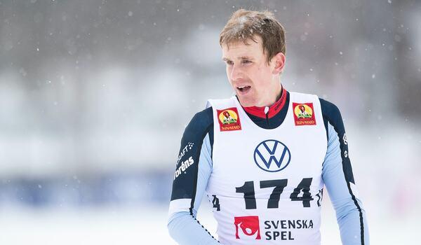 Markus Ruus vann 15 kilometer klassiskt vid Volkswagen cup i Torsby på söndagen. FOTO: Johanna Lundberg/Bildbyrån.