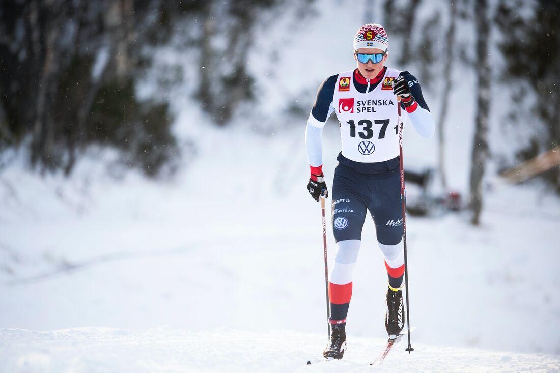Edvin Anger vann JVM-tester i Åsarna på söndagen. FOTO: Johanna Lundberg/Bildbyrån.
