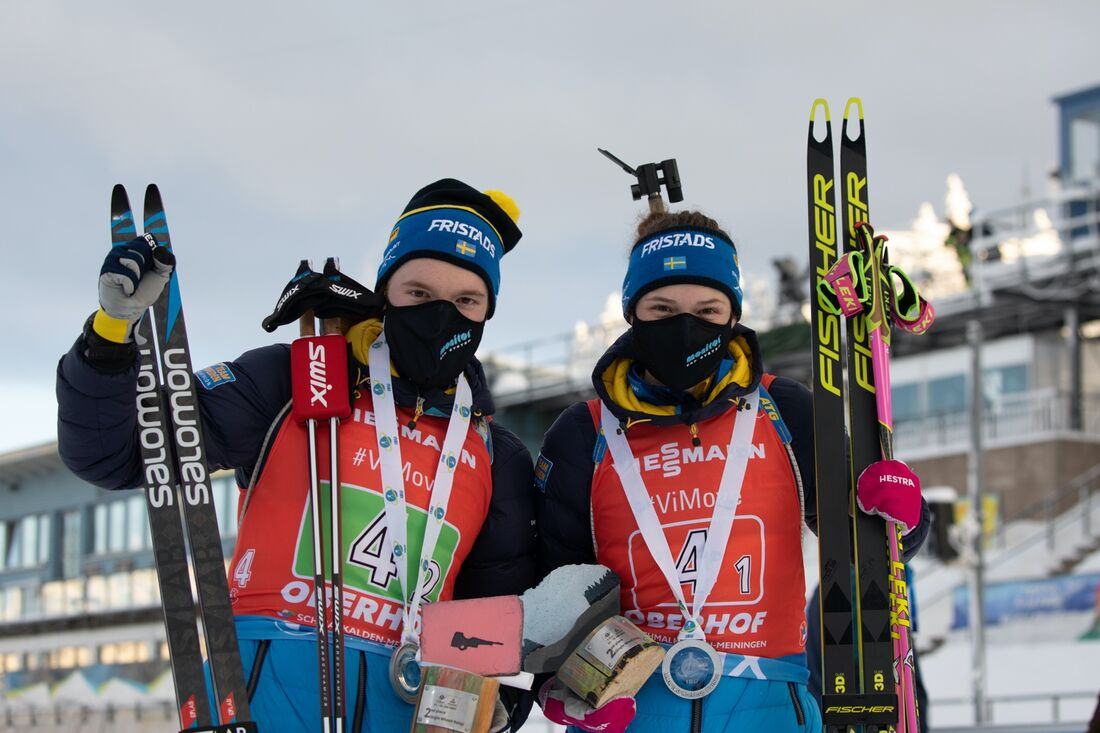 Sebastian Samuelsson och Hanna Öberg är förstås två av åkarna i den svenska truppen till VM i skidskytte. FOTO: Svenska skidskytteförbundet.