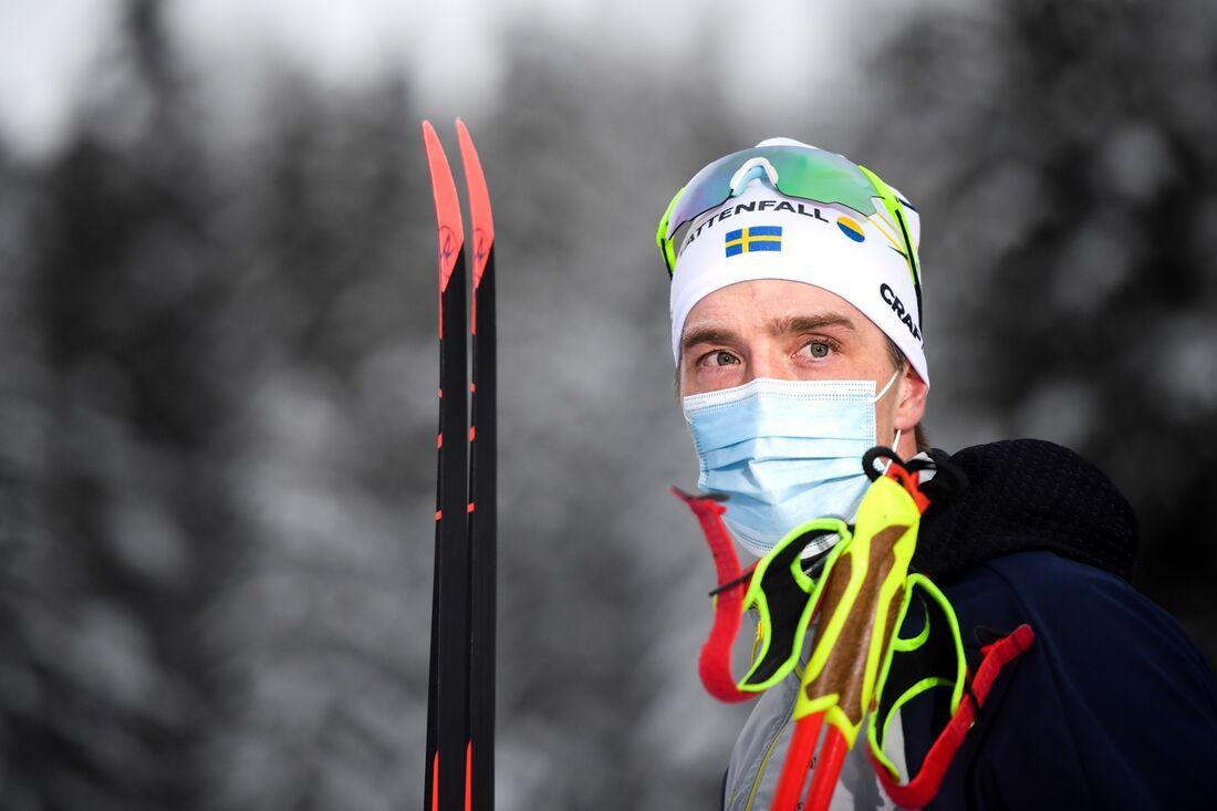 Calle Halfvarsson söker en bra känsla när han idag är tillbaka i världscupen på hemmaplan i Falun. FOTO: Maxim Thore/Bildbyrån.