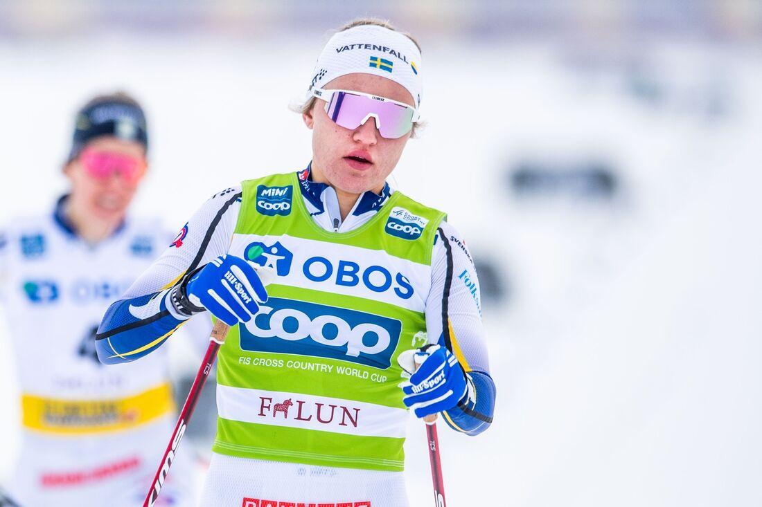 Linn Svahn, här i semifinalen, vann sprinten i Falun på söndagen. FOTO: Simon Hastegård/Bildbyrån.