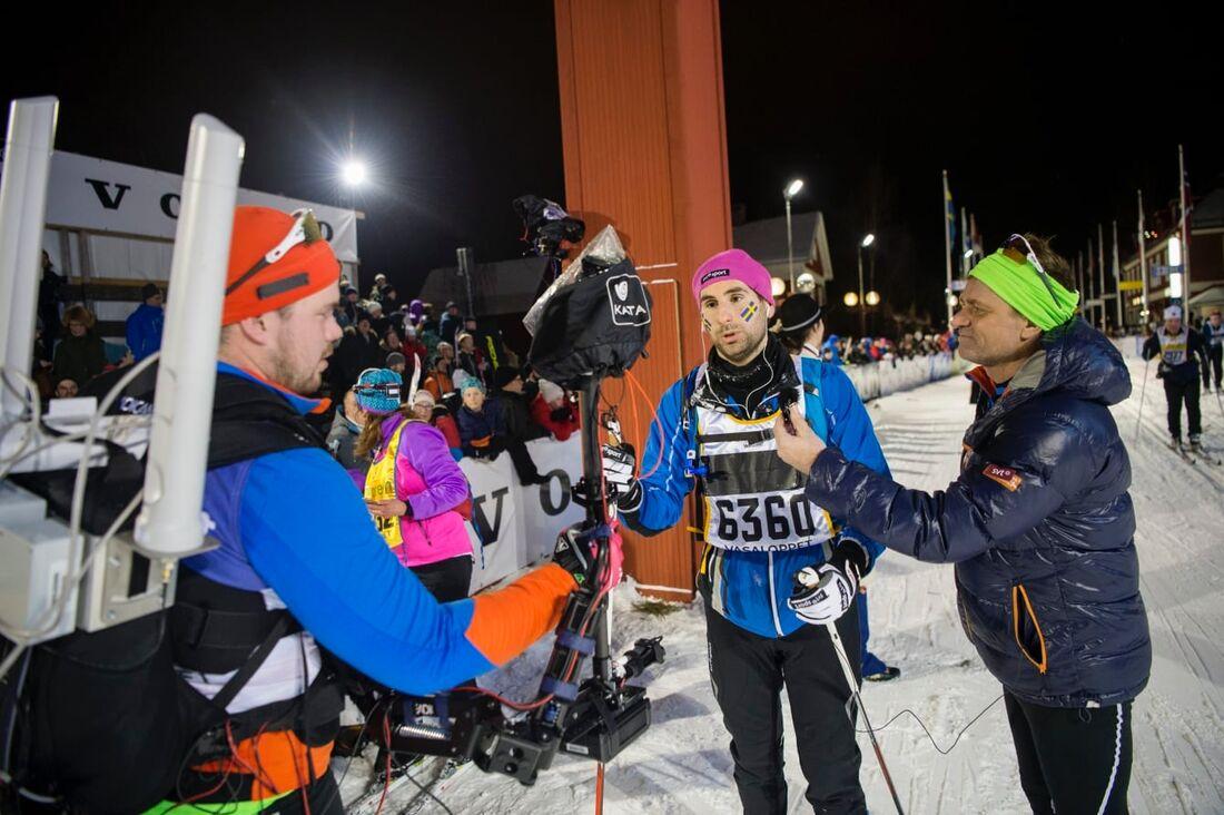 Stephan Wilson åkte Vasaloppet första gången 2016. Nu inspirerar han andra att åka skidor. FOTO: Vasaloppet.