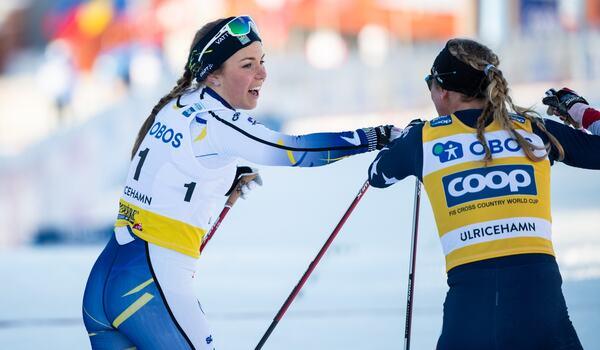 VM-fyran i sprint, Johanna Hagström, har haft en Covid- 19-infektion och är inte med på landslaget läger i Frankrike. FOTO: Carl Sandin/Bildbyrån.