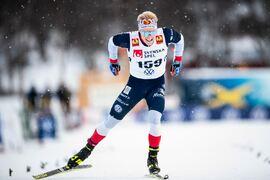 Jens Burman vann SM på 15 km i Borås på tisdagseftermiddagen. FOTO: Johanna Lundberg/Bildbyrån.