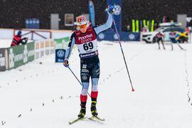 Jens Burman vann SM på 15 km med en marginal på 59 sekunder till Björn Sandström. FOTO: Mathias Bergeld/Bildbyrån.