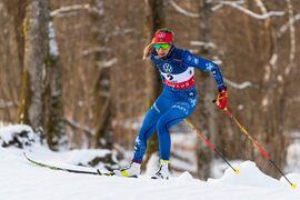 Anna Dyvik, här i prologen, vann SM-sprinten i Borås på onsdagen. FOTO: Mathias Bergeld/Bildbyrån.