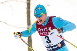 Anton Persson, SK Bore Torsby, här i prologen, vann SM-sprinten i Borås på onsdagen. FOTO: Mathias Bergeld/Bildbyrån.