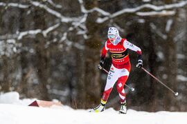 Ebba Andersson vann guldet SM 15 kilometer masstart på torsdagen. FOTO: Mathias Bergeld/Bildbyrån.