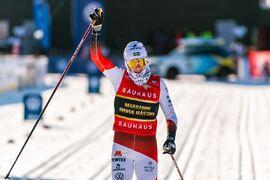 Ebba Andersson tog en favoritseger på SM 15 kilometer masstart på torsdagen. FOTO: Mathias Bergeld/Bildbyrån.
