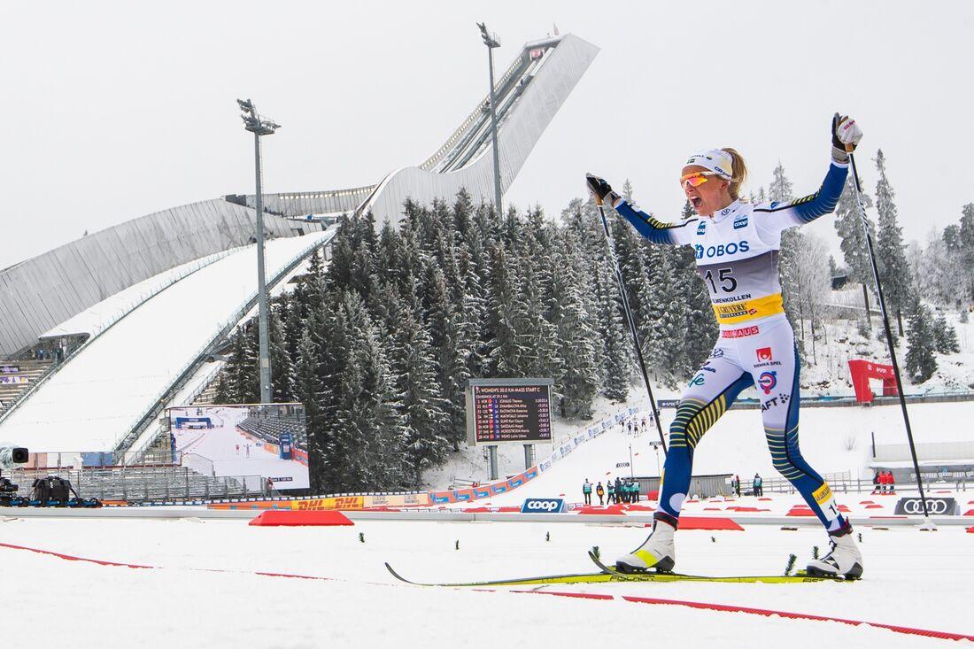 Det blir ingen världscupavslutning för längdåkarna i Holmenkollen i slutet av mars. FOTO: Mathias Bergeld/Bildbyrån.