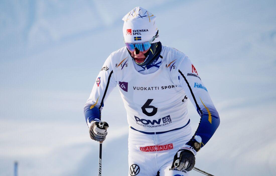 Truls Gisselman åkte in som åtta på 30 kilometer masstart vid JVM i Vukatti. FOTO: Roni Lukkarinen/Bildbyrån.