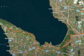 Här är delar av den tänkta banan för nya rullskidtävlingen Båstad - Mölle.