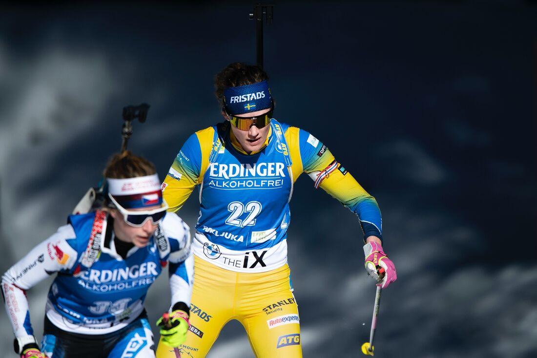 Hanna Öberg hittade tillbaka till formen och åkte hem ett VM-silver på tisdagens distanslopp i Pokljuka. FOTO: Joel Marklund/Bildbyrån.