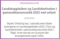 Avlysing LK og LF 2021