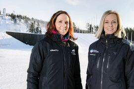 Sara Tigerström Monfelt och Ulrika Back Eriksson blir kampanjgeneraler för VM i Falun 2027. FOTO: Ulf Palm.