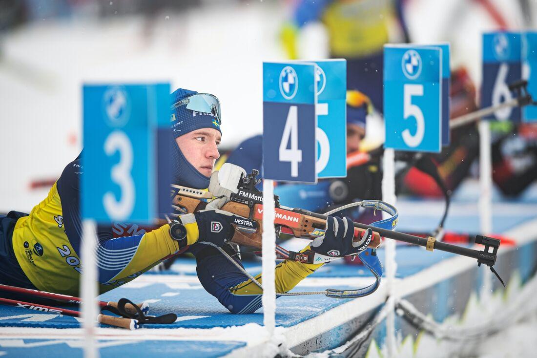 Sebastian Samuelsson går ut med startnummer 25 när distansloppet över 20 kilometer väntar vid VM i Pokljuka i eftermiddag. FOTO: Joel Marklund/Bildbyrån.