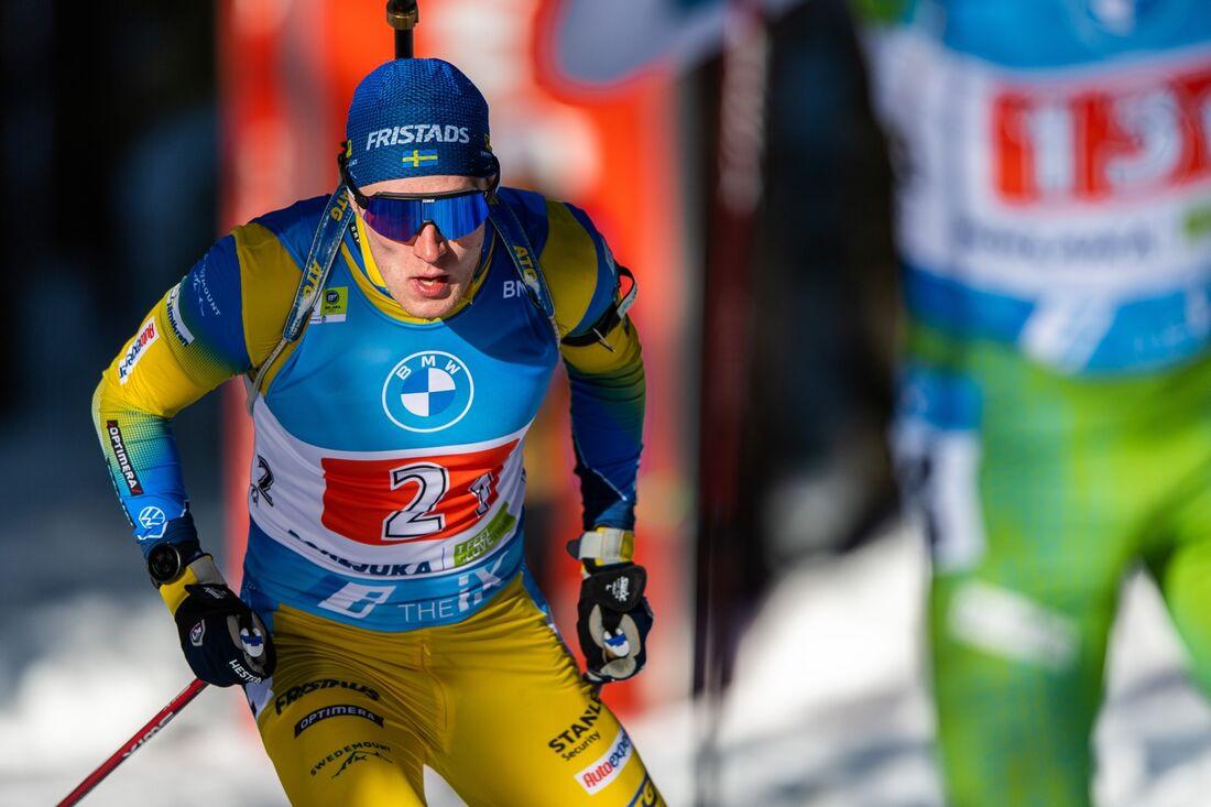 Sebastian Samuelsson under VM i Pokljuka. Lyssna på intervju som gjordes strax före VM-starten. FOTO: Joel Marklund/Bildbyrån.
