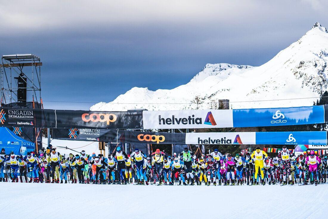 Norska världscuptävlingar flyttas till Schweiz och kommer genomföras på banorna för Engadin Ski Marathon. FOTO: Visma Ski Classics.