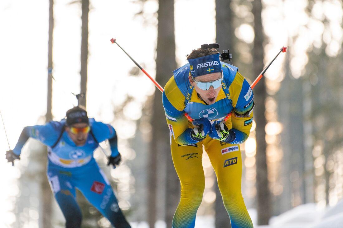 Martin Ponsiluoma har startnummer 1 på masstartsloppet som avslutar VM i skidskytte i eftermiddag. FOTO: Joel Marklund/Bildbyrån.