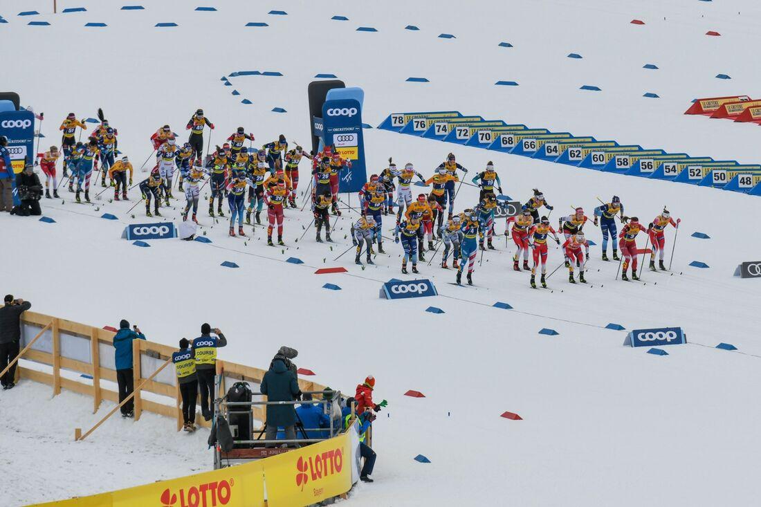 På torsdag startar VM i längdåkning I Oberstdorf, Tyskland. Bilden är från för-VM I fjol. FOTO: Ulrich Gamel, Gepa Pictures/Bildbyrån.