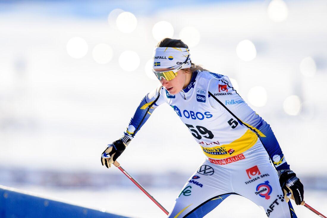 Ska Ebba Andersson åka hem sin första individuella mästerskapsmedalj på seniornivå vid VM i Oberstdorf. FOTO: Simon Hastegård/Bildbyrån.