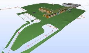 3D modell ny skole