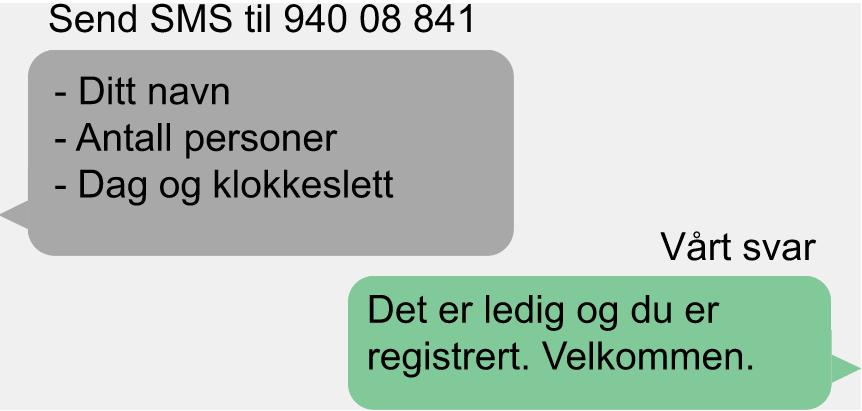 Bestille badebilletter på SMS