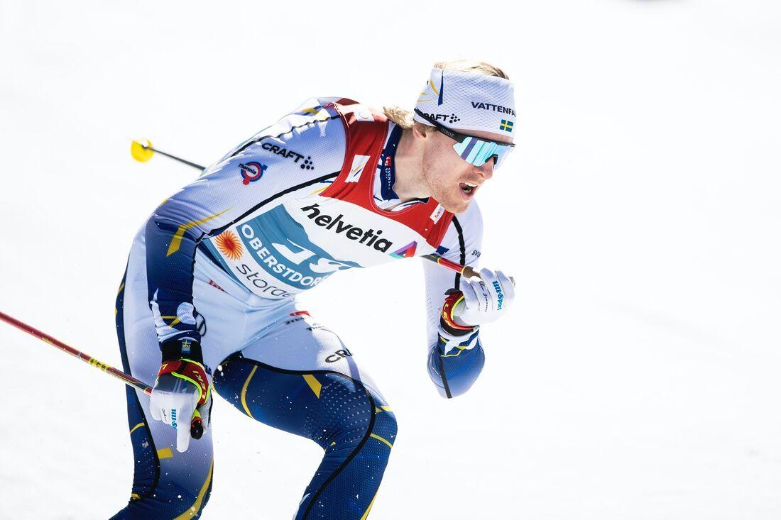 Oskar Svensson är avslutare för Sverige på söndagens teamsprint vid VM i Oberstdorf. FOTO: Johanna Lundberg/Bildbyrån.