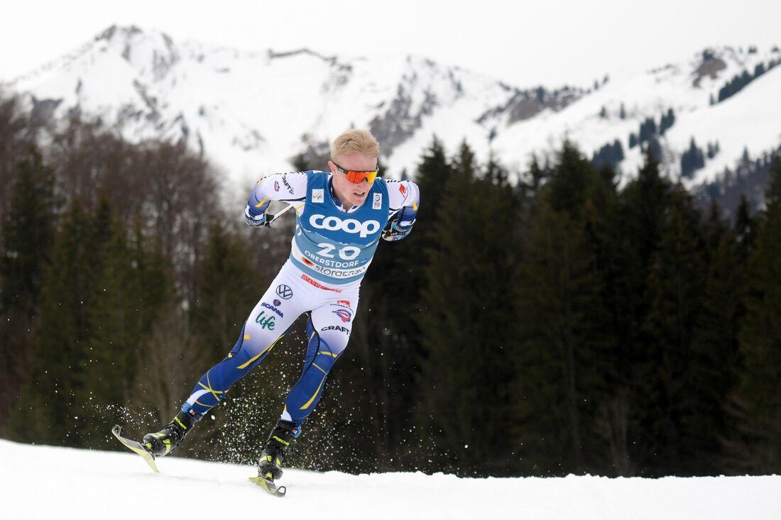 Jens Burman gjorde karriärens bästa VM-lopp när han slutade åtta på 15 kilometer fri stil vid VM i Oberstdorf. FOTO: Johanna Lundberg/Bildbyrån.