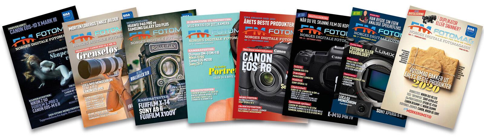 Fra 2021 kommer Fotomag ut med åtte utgaver i året.