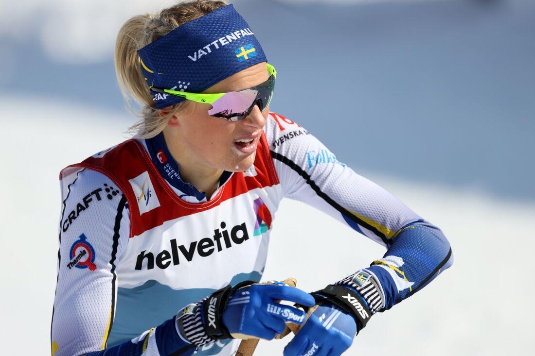 Frida Karlsson missar helgens världscupavslutning i Schweiz på grund av skadan hon ådrog sig på VM-tremilen. FOTO: Christian Walgram, Gepa Pictures/Bildbyrån.