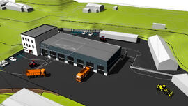 Tegning av den nye tekniske basen på Tengs