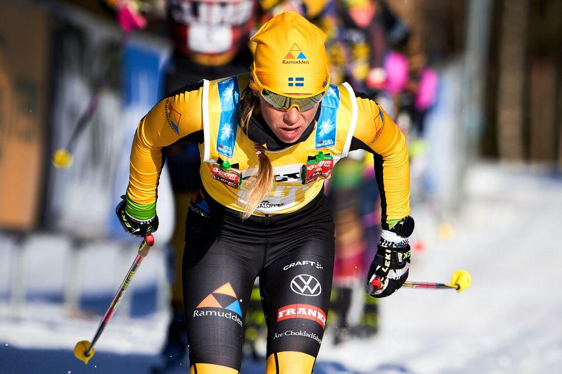 Lina Korsgren är laddad för två långlopp på två dagar i Vålådalen till helgen. FOTO: Visma Ski Classics/Magnus Östh.