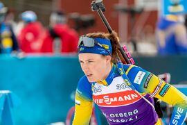 Hanna Öberg är först ut av alla åkare när världscupavslutningen i skidskytte i Östersund startar idag. FOTO: Johan Axelsson/Bildbyrån.