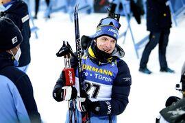Sebastian Samuelsson har ett fint läge med startnummer 2 på jaktstarten i Östersund. FOTO: Joel Marklund/Bildbyrån.