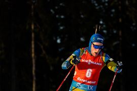 Sebastian Samuelsson bommade för mycket på masstarten i Östersund för att blanda sig i toppstriden. FOTO: Joel Marklund/Bildbyrån.