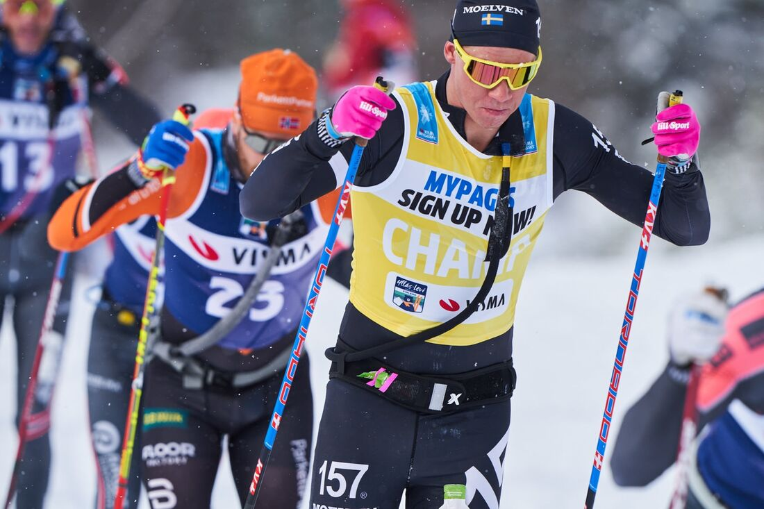 Emil Persson var omutlig på helgens två Visma Ski Classics-lopp i Vålådalen. FOTO: Visma Ski Classics/Magnus Östh.