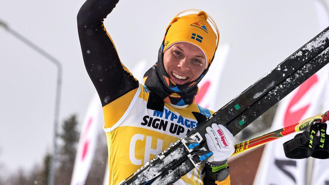 Lina Korsgren är nu rankad som världens bästa långloppsåkare på Visma Ski Classics SC Ranking som är gemensam för både damer och herrar. FOTO: Visma Ski Classics/Magnus Östh.