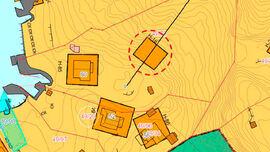 Kart over Kjeøy