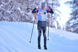 Oskar Kardin har gjort karriärens bästa säsong. Tar han vinterns andra seger på tio mil långa Årefjällsloppet på lördag? Här är han på väg mot solosegern i La Diagonela i januari. FOTO: Björn Reichert/Nordic Focus.