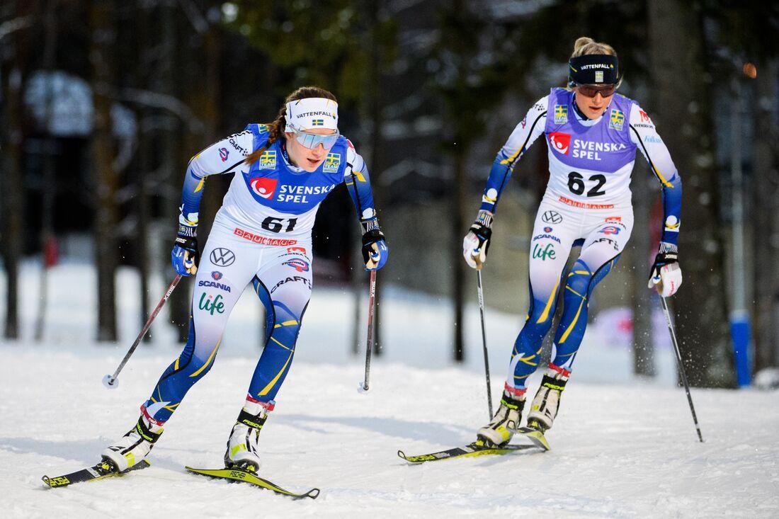 Ebba Andersson och Frida Karlsson åker båda finalen på Volkswagen Cup i Falun i helgen. FOTO: Erik Mårtensson/Bildbyrån.